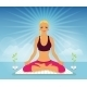 Woman doing Yoga Practice - GraphicRiver Item for Sale