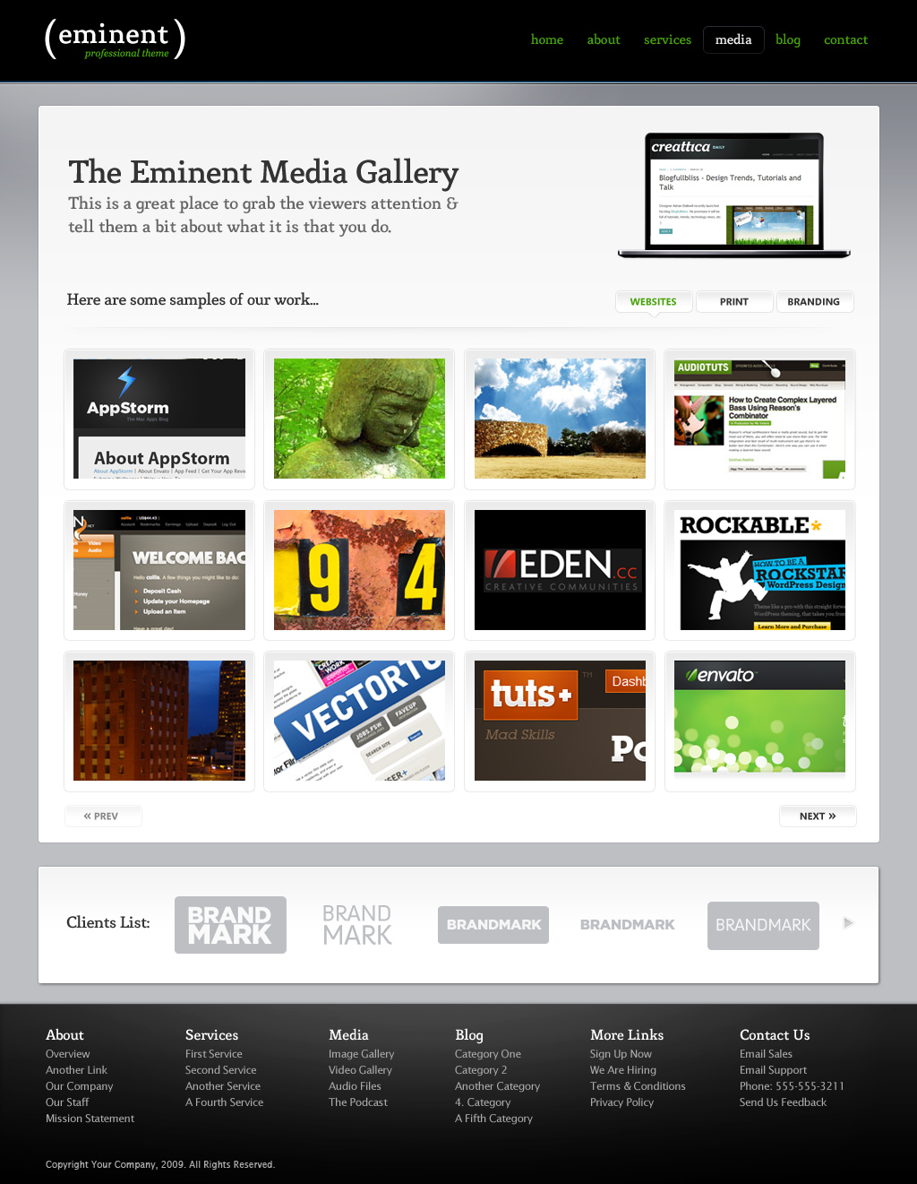 Eminent (HTML), an ultra clean & professional site