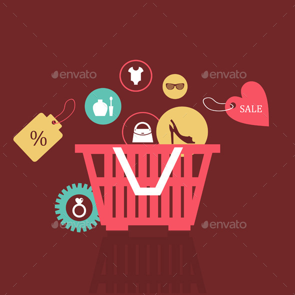 GraphicRiver Basket of Goods 9192113