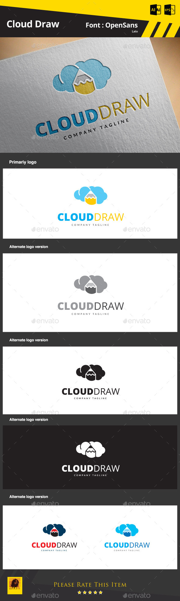 GraphicRiver Cloud Draw 9134228