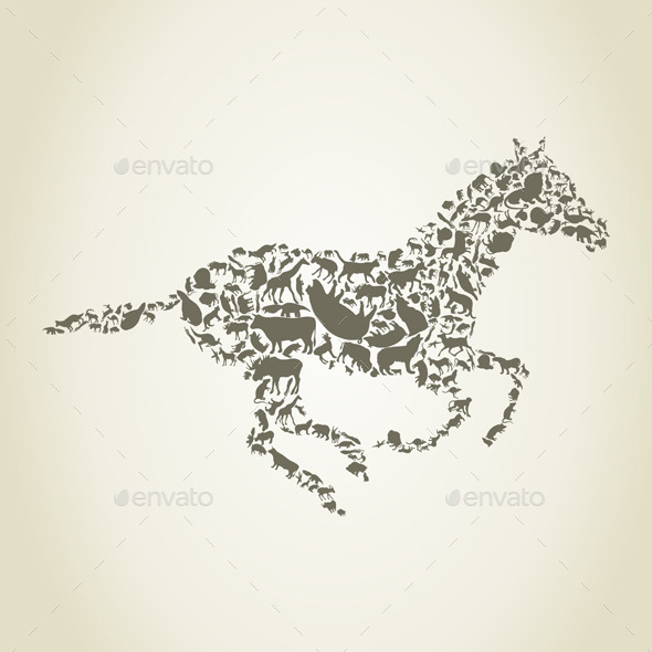 GraphicRiver Horse Animals 9192232