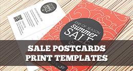 Shop sale postcards print templates