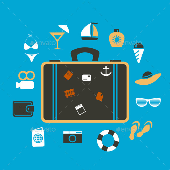 GraphicRiver Suitcase Travel 9192269