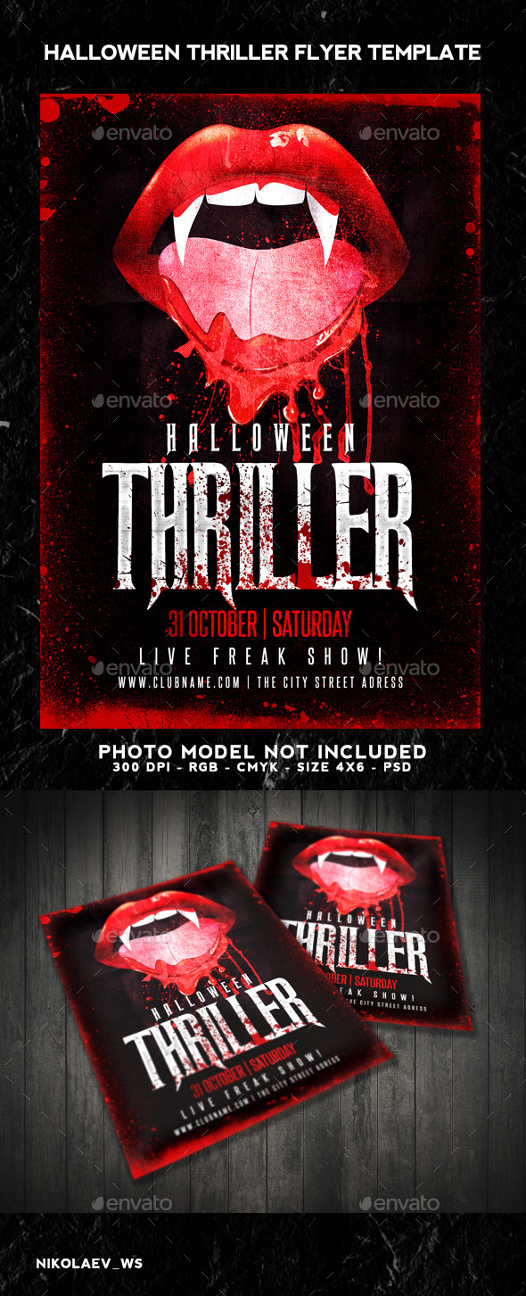 GraphicRiver Halloween Thriller Flyer 9192274