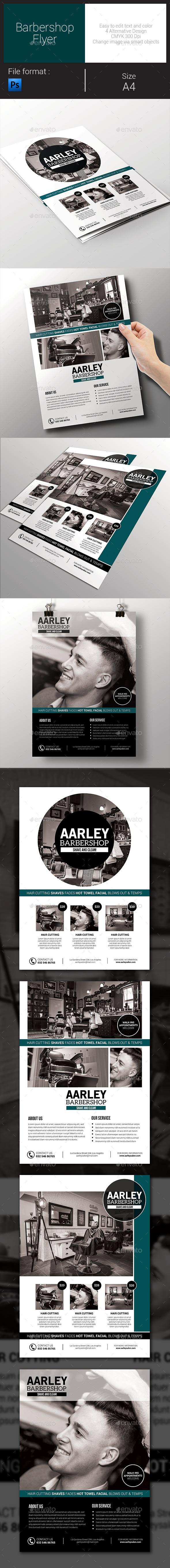 GraphicRiver Simple Barbershop Flyer 9192355