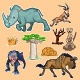 Africa Animals & Trees Collection Set 02 - GraphicRiver Item for Sale