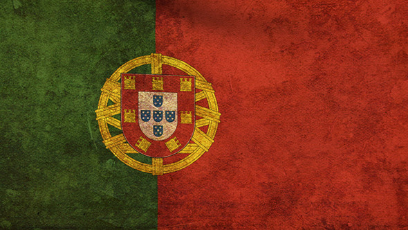 Portugal Flag 2 Pack Grunge and Retro
