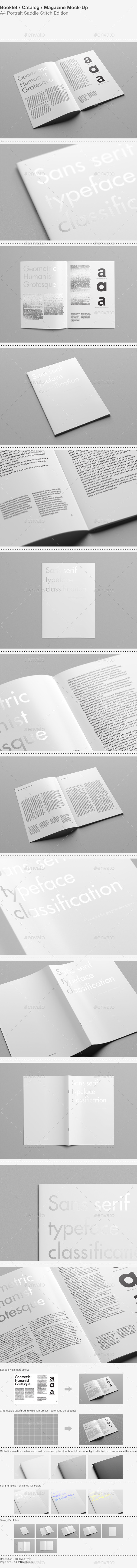 A4 Portrait Catalog / Magazine Mock-Up - Magazines Print