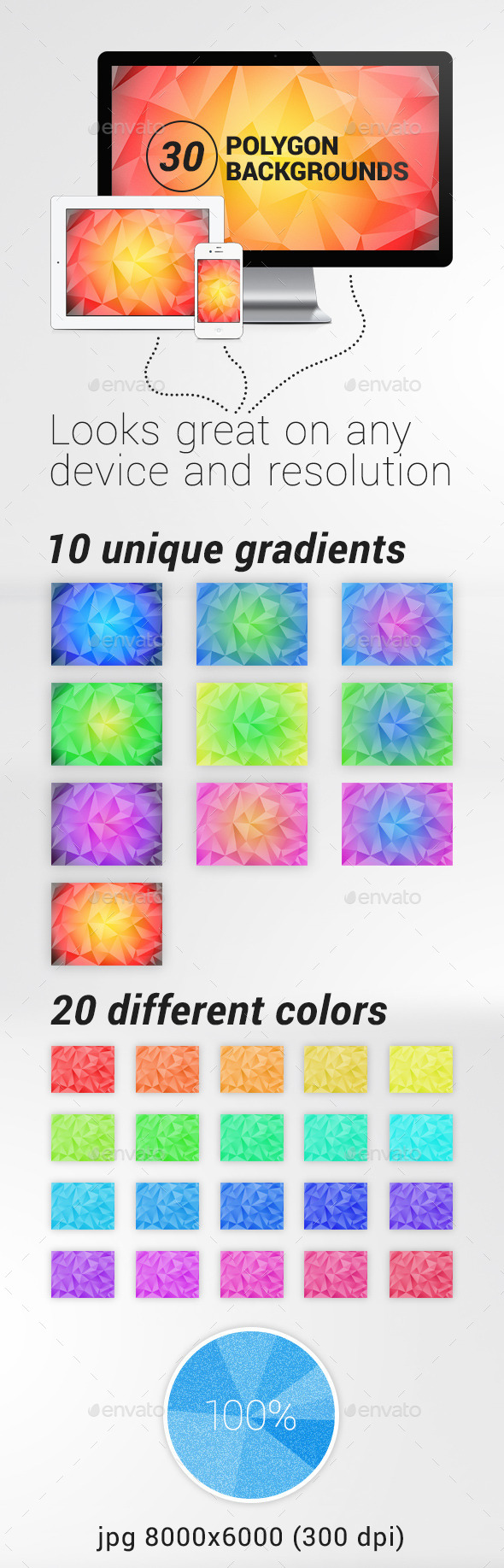 GraphicRiver 30 Polygon Backgrounds 9166184