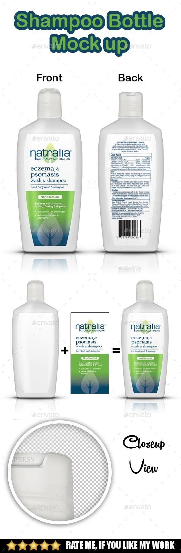 GraphicRiver Shampoo Bottle Mockup 9192591