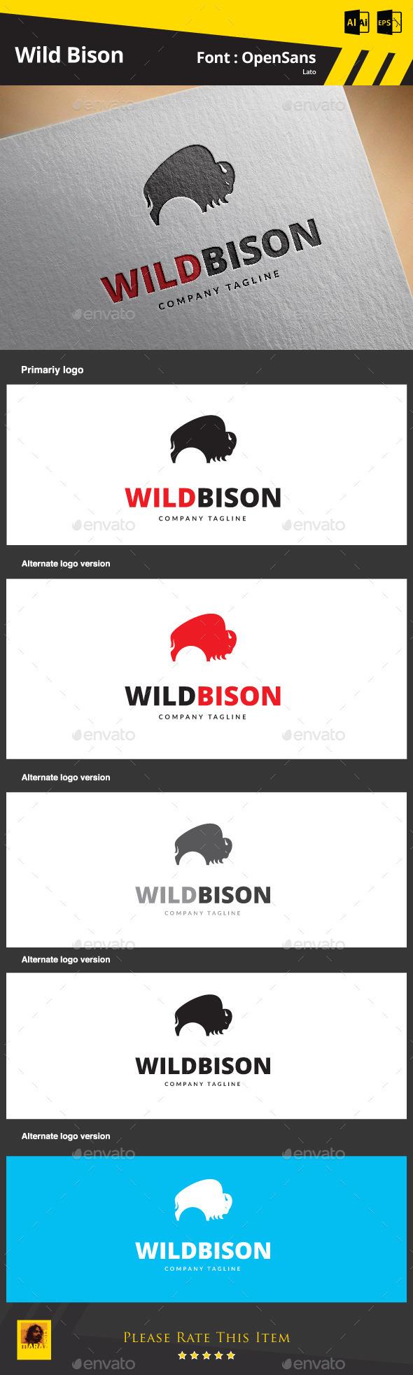 GraphicRiver Wild Bison 9192735