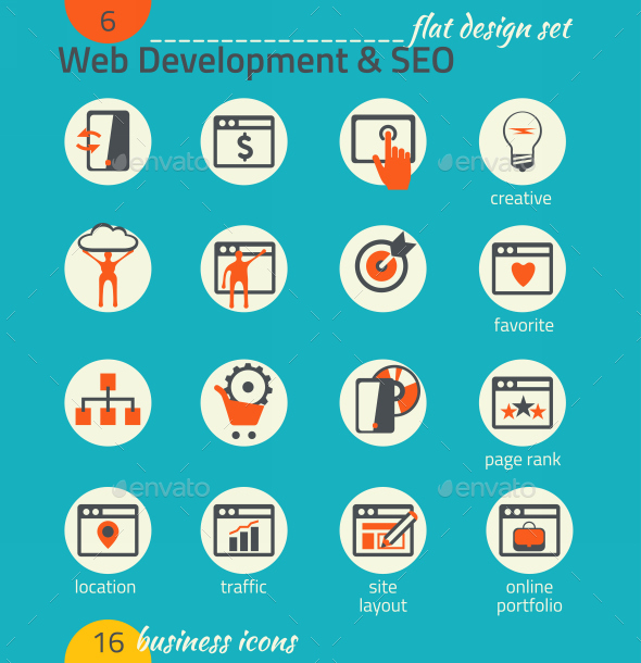 GraphicRiver Business Icon Set Software and Web Development 9192739