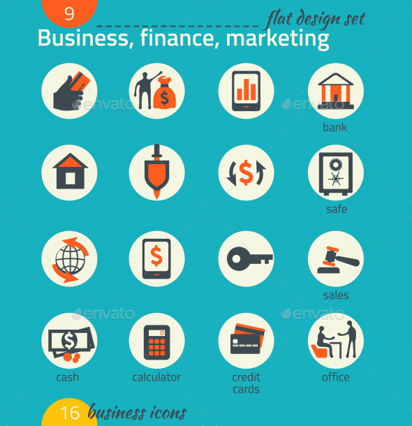 GraphicRiver Business Icon Set Software and Web Development 9192771