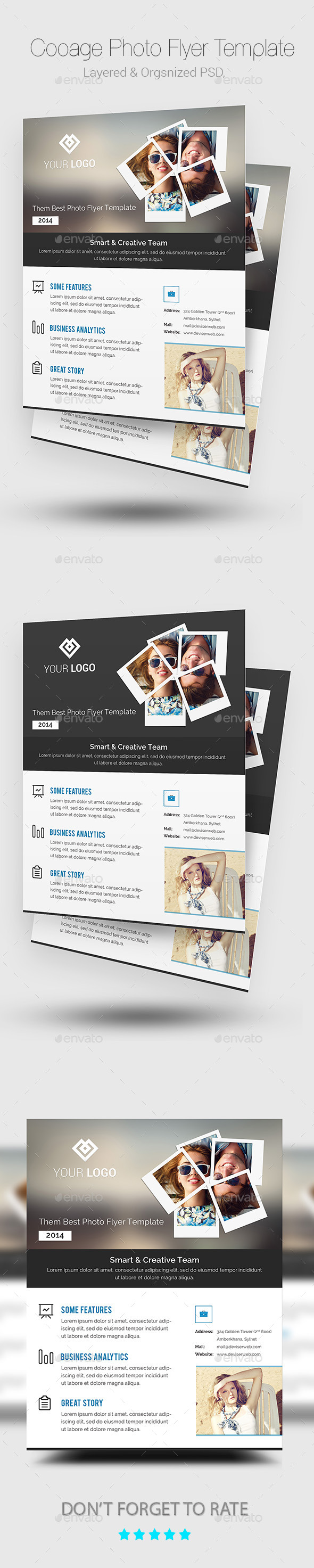GraphicRiver Collage Photo Flyer Poster Template 9192783