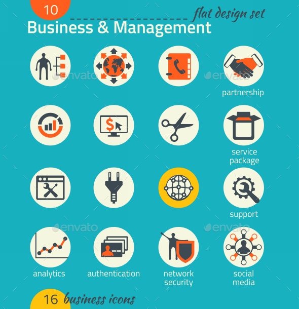GraphicRiver Business Icon Set Software and Web Development 9192816