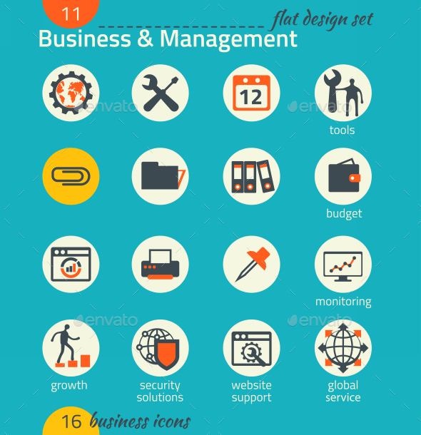 GraphicRiver Business Icon Set Software and Web Development 9192904
