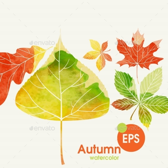 GraphicRiver Autumn Background With Leaves 9193029