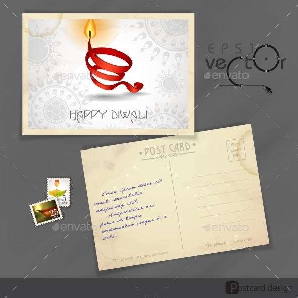 GraphicRiver Old Postcard Design Template 9193080