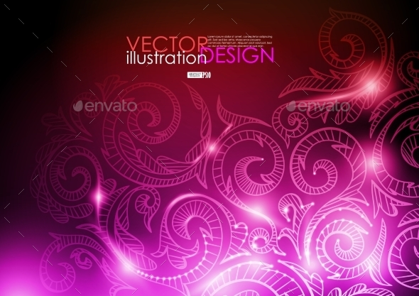 GraphicRiver Neon Pattern Background 9193088