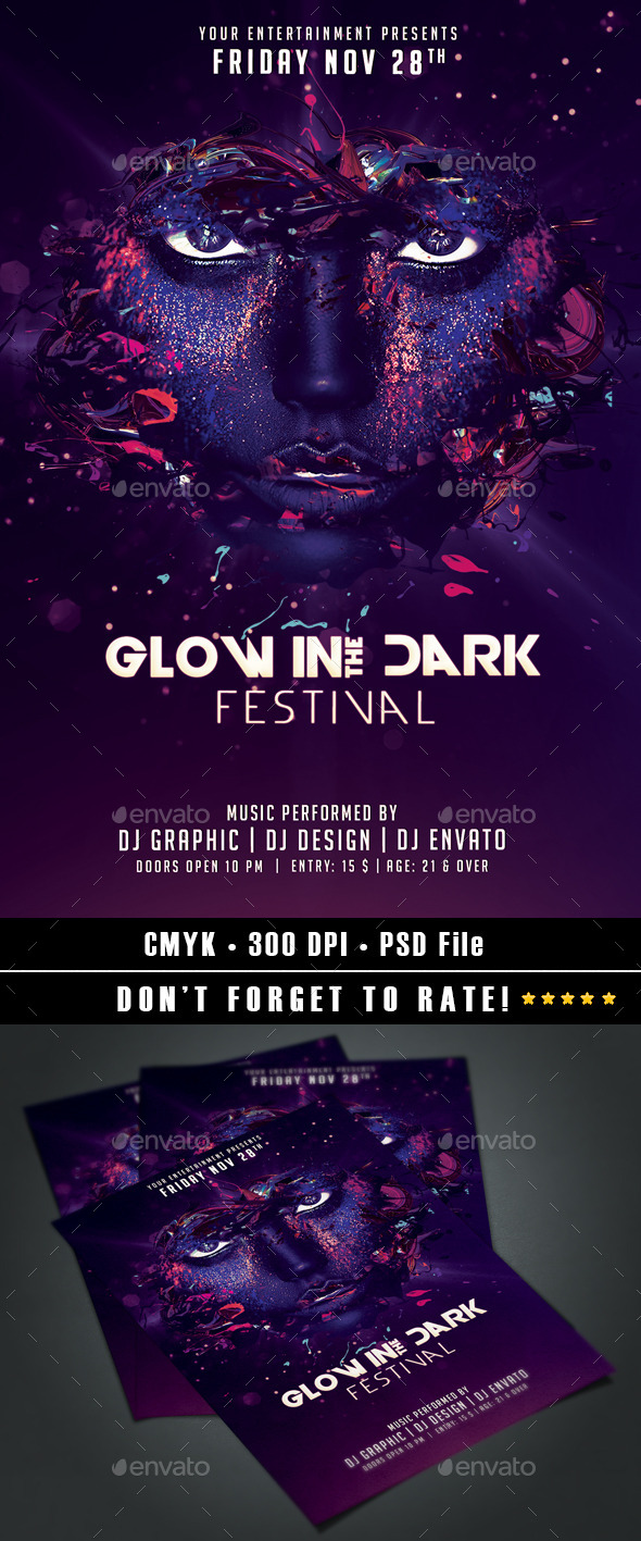 GraphicRiver Glow in the Dark Festival 9193122