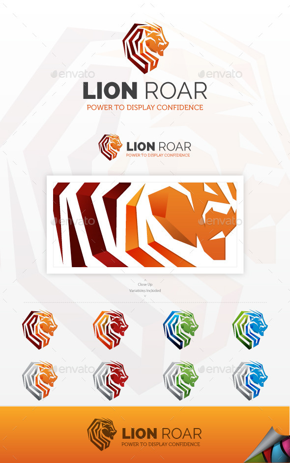 GraphicRiver Lion Roar Logo 9193194