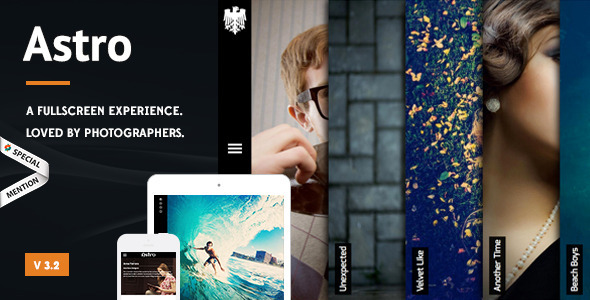 Astro - Showcase/Photography Wordpress Theme - Photography Creative