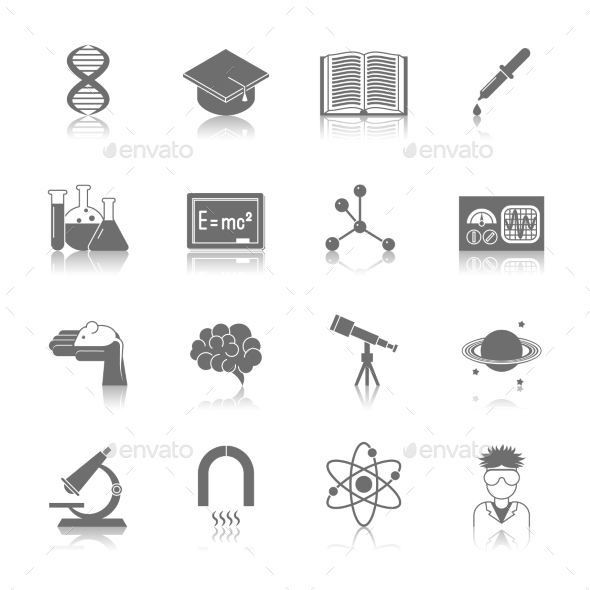 GraphicRiver Science and Research Icon Black 9193222