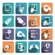 Digital Health Icons Set - GraphicRiver Item for Sale