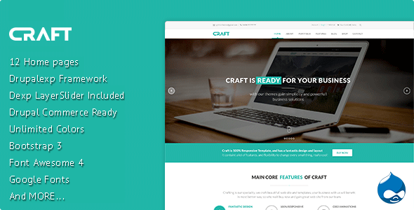 ThemeForest Craft Multi-Purpose eCommerce Drupal Theme 9193271