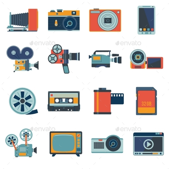 GraphicRiver Photo Video Icons Set 9193275