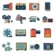 Photo Video Icons Set - GraphicRiver Item for Sale
