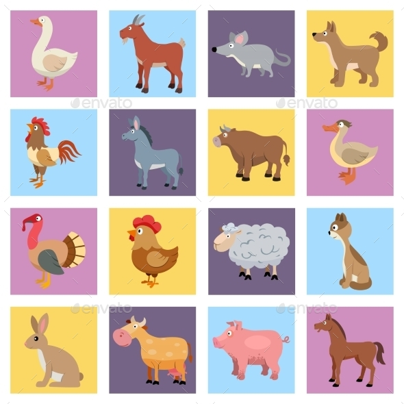 GraphicRiver Farm Animals Set 9193278