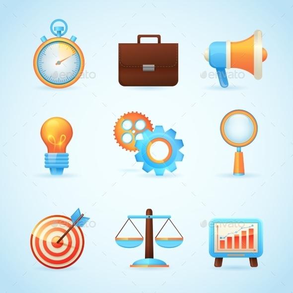 GraphicRiver SEO Internet Marketing Icons 9193280