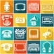 Retro Media Icons - GraphicRiver Item for Sale