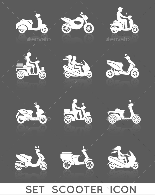GraphicRiver Scooter Icons Set 9193317