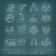 Meeting Outline Icons Set - GraphicRiver Item for Sale