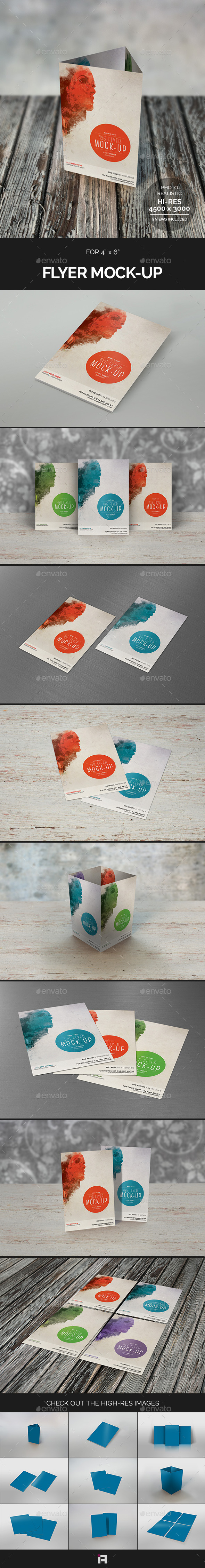 GraphicRiver Flyer Mock-Up for 4x6 9193362