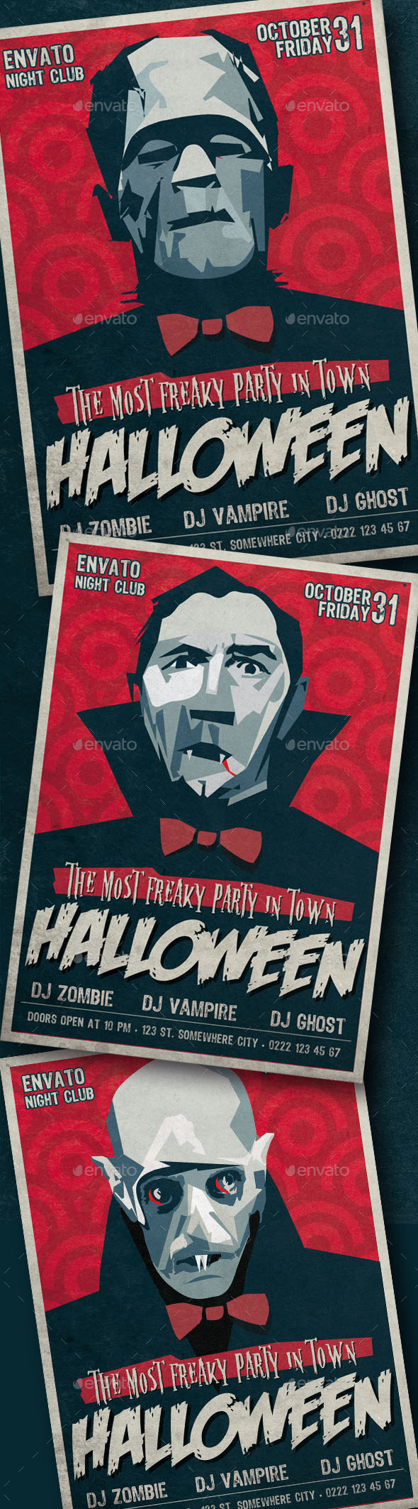 GraphicRiver Retro Halloween Party Flyer 9193496