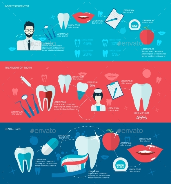 GraphicRiver Teeth Banner Set 9193693