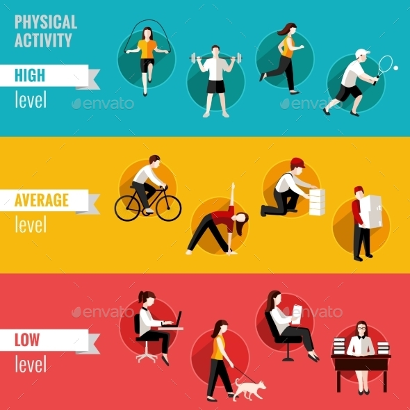 GraphicRiver Physical Activity Horizontal Banners 9193701