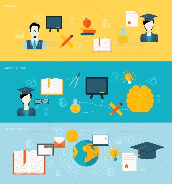 GraphicRiver Education Banners Set 9193763