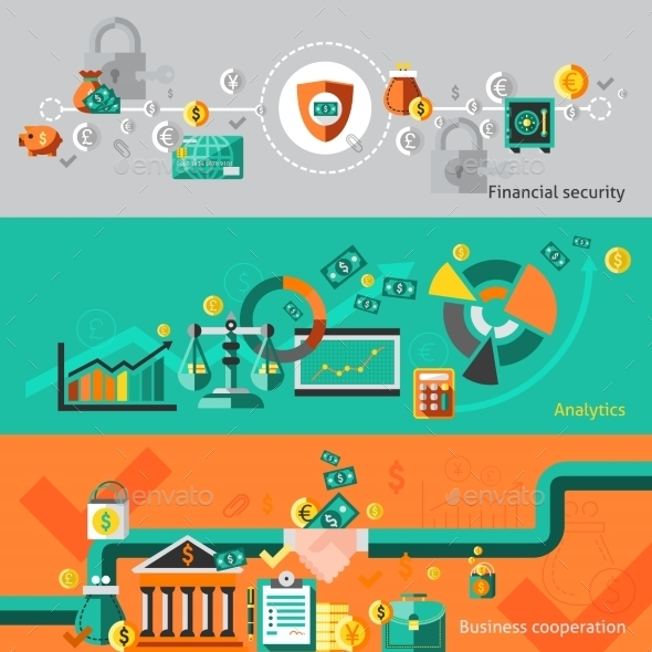GraphicRiver Finance Banner Set 9193790