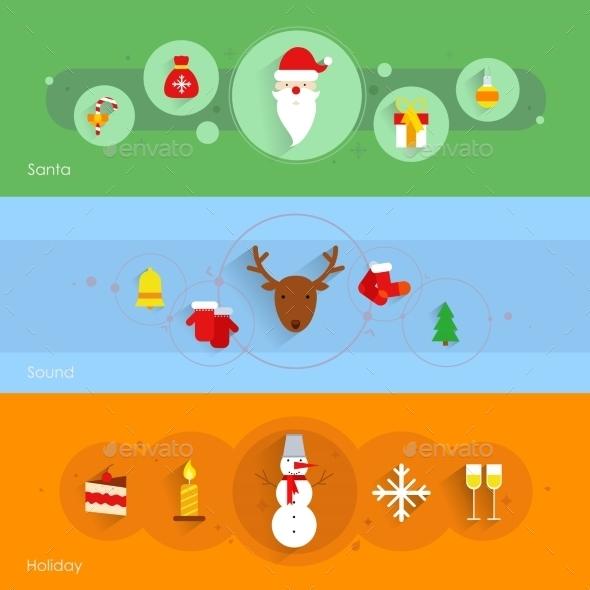 GraphicRiver Christmas Banner Set 9193796