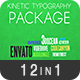 12 Kinetic Typography Package - VideoHive Item for Sale