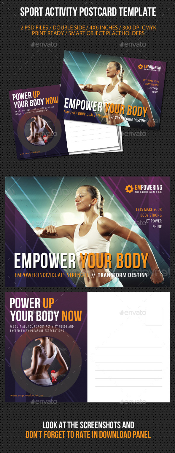 GraphicRiver Sport Activity Postcard Template V02 9194006