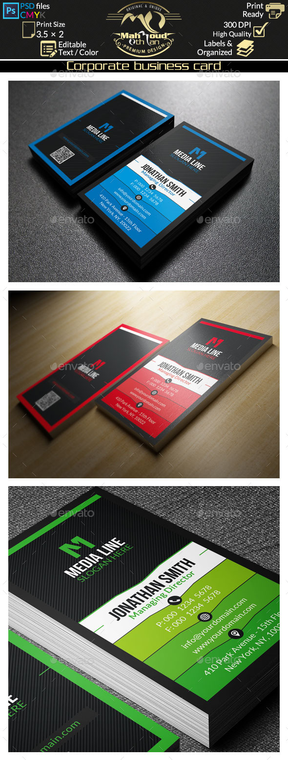 GraphicRiver Corporate Business Card 9194038