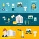 Museum Icons Banner - GraphicRiver Item for Sale
