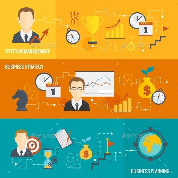 GraphicRiver Business Strategy Planning Banner Set 9194072