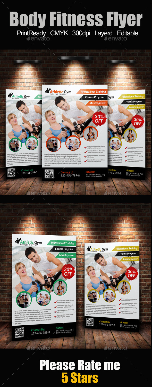 A4 Body Fitness Flyer