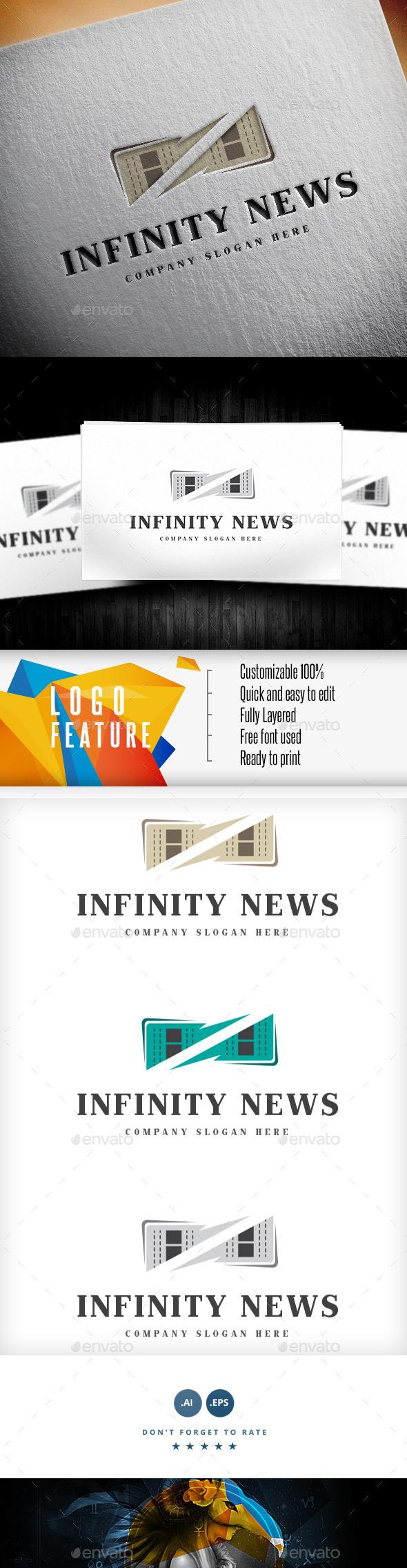 GraphicRiver Infinity News Logo 9155151